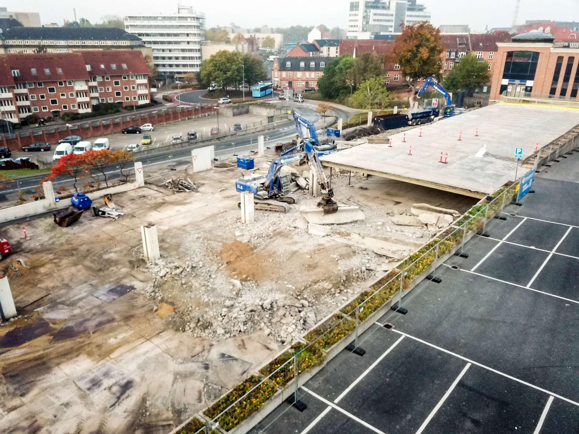 Nedrivning Fischers Plads